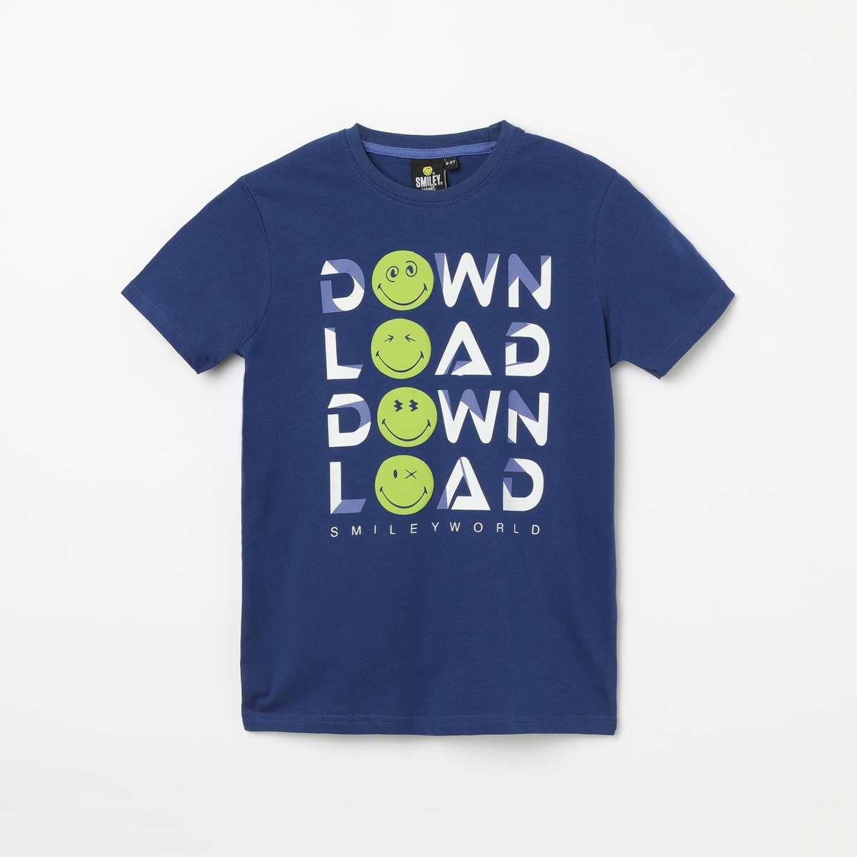 1b. SMILEYWORLD Printed Crew Neck T-shirt