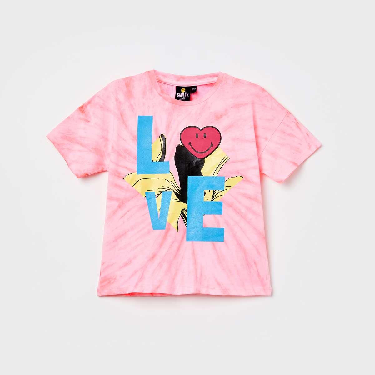 1g. SMILEYWORLD Printed Short Sleeves T-shirt