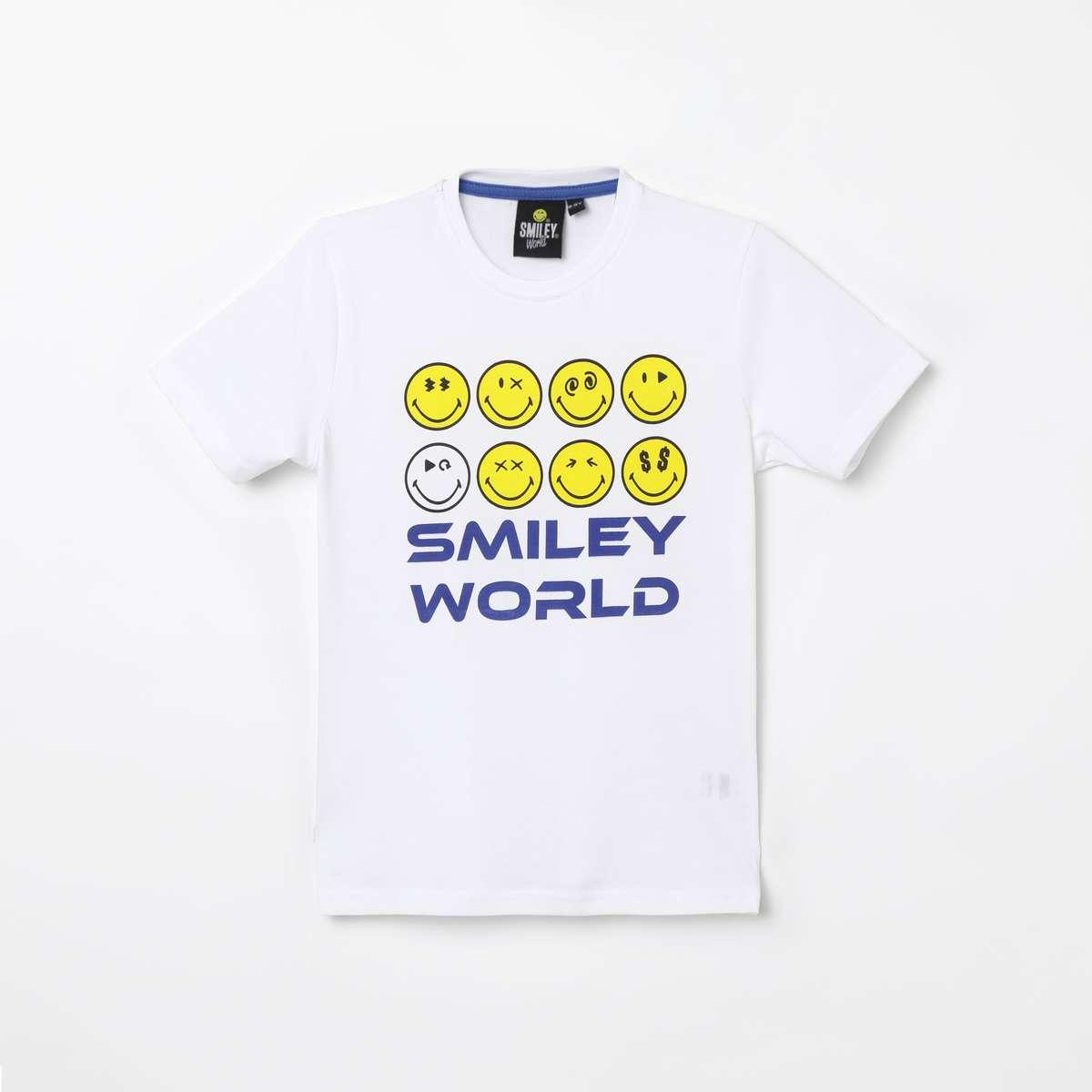 3b. SMILEYWORLD Printed Round Neck T-shirt