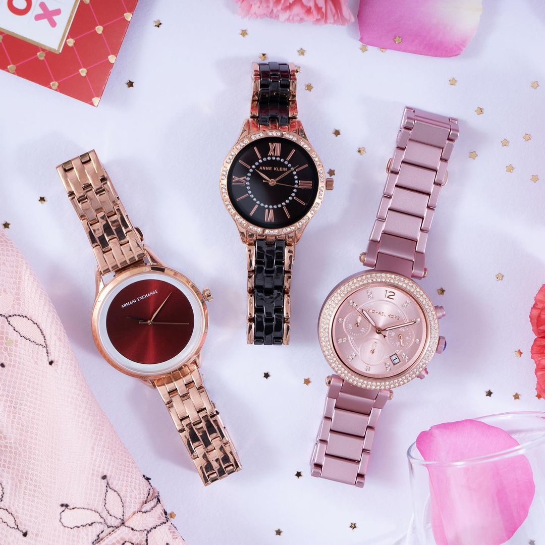 1.watches from Michael Kors, Anne Klien and Armani Exchange