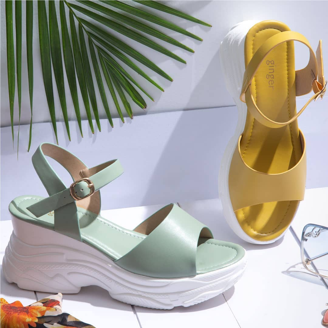 4.Classy Yellow and Mint Green from Ginger by Lifestyle