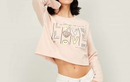 1.SMILEYWORLD Women Printed Cropped Sweatshirt