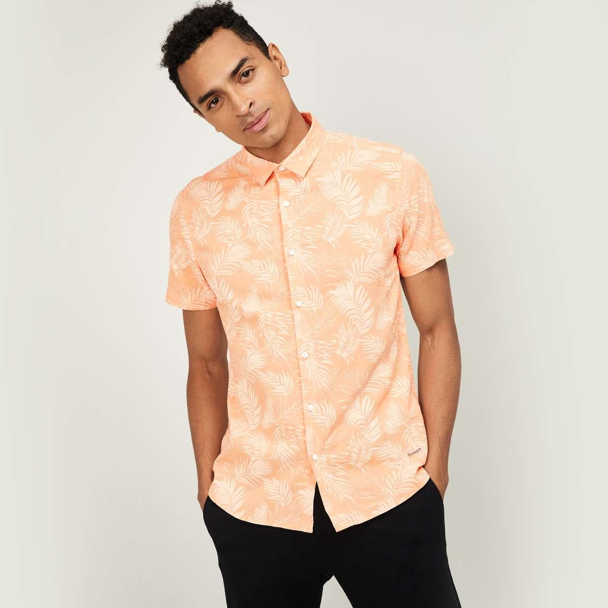4.BOSSINI Men Printed Regular Fit Casual Shirt