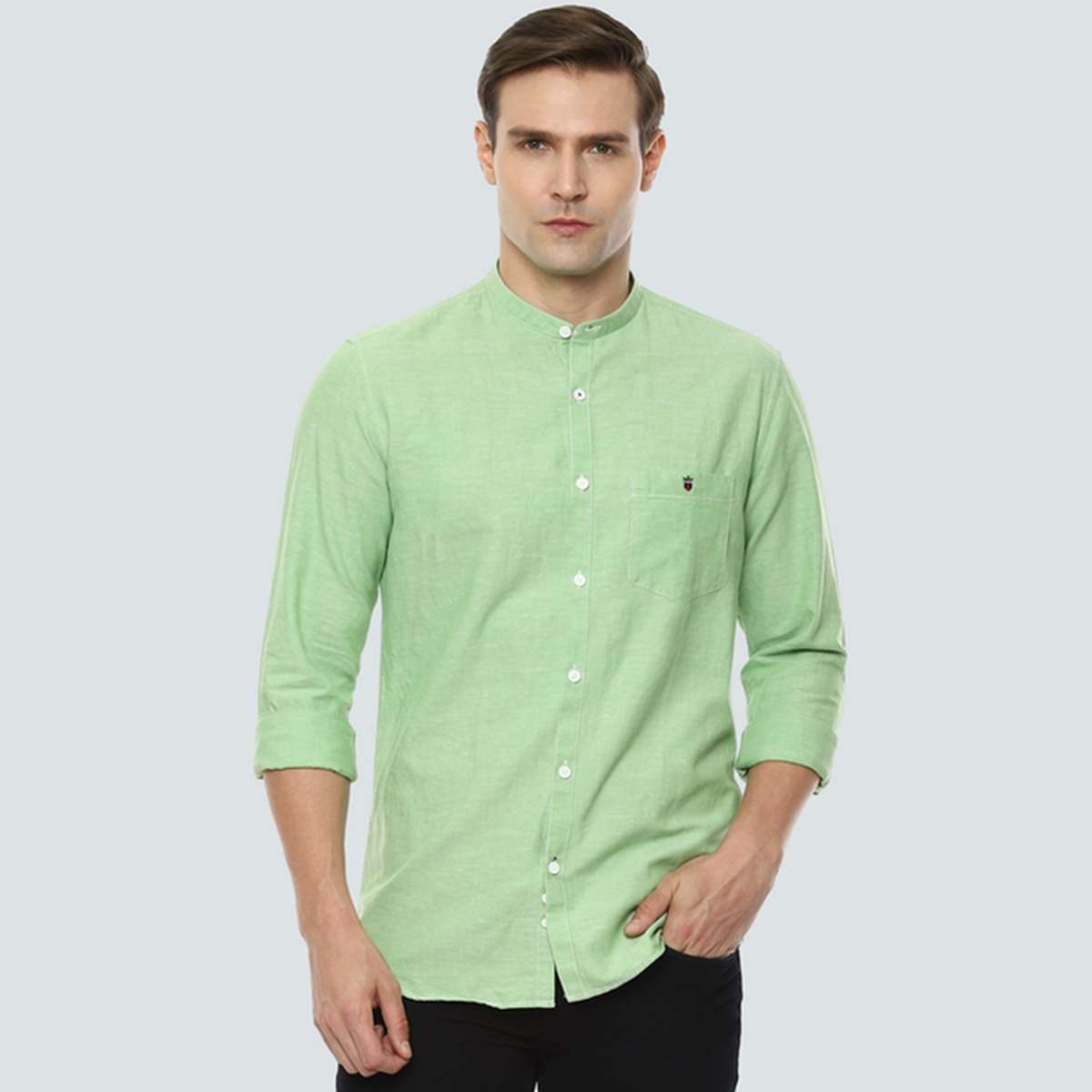 2.LP SPORT Men Solid Super Slim Fit Casual Shirt