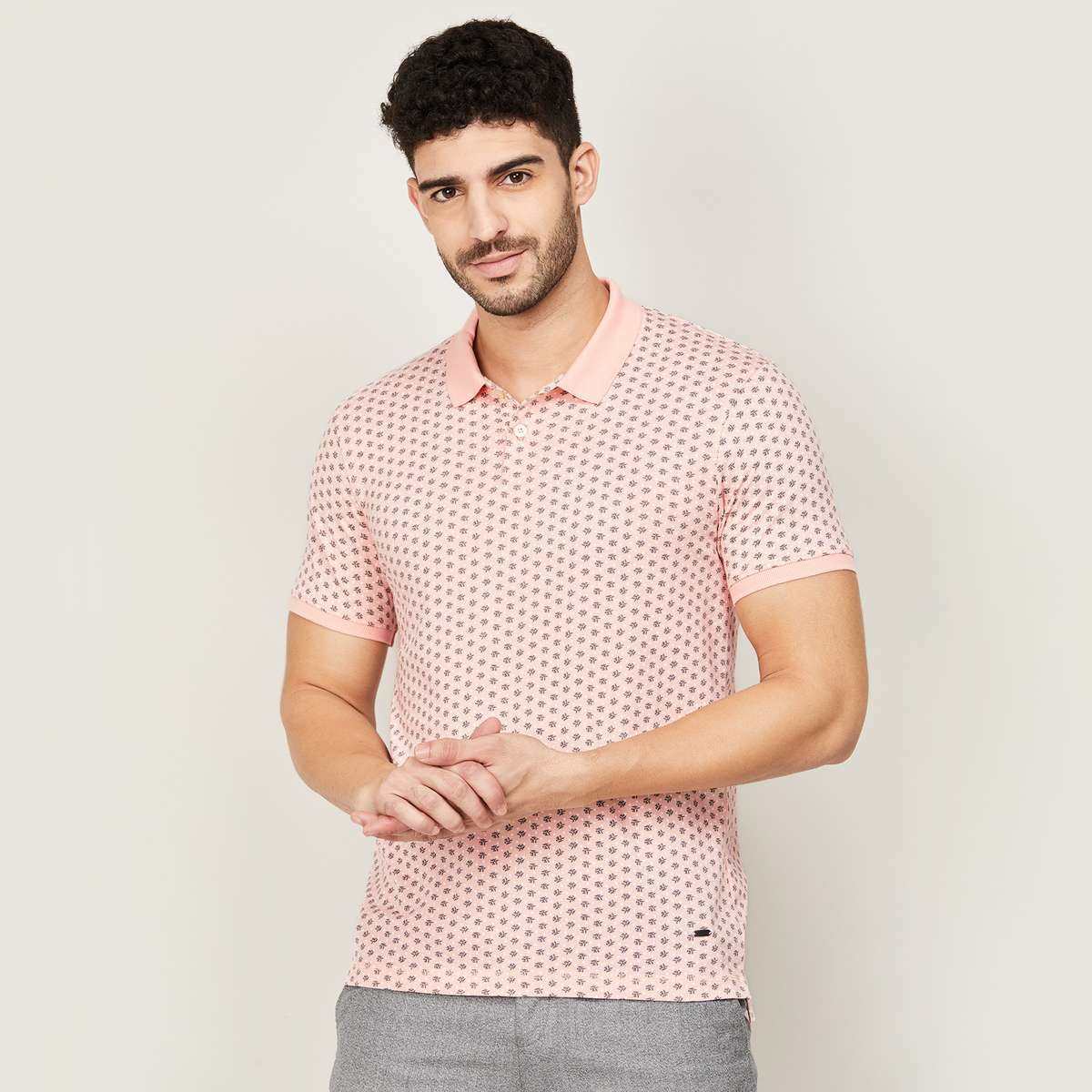 3.CODE Men Printed Polo T-shirt