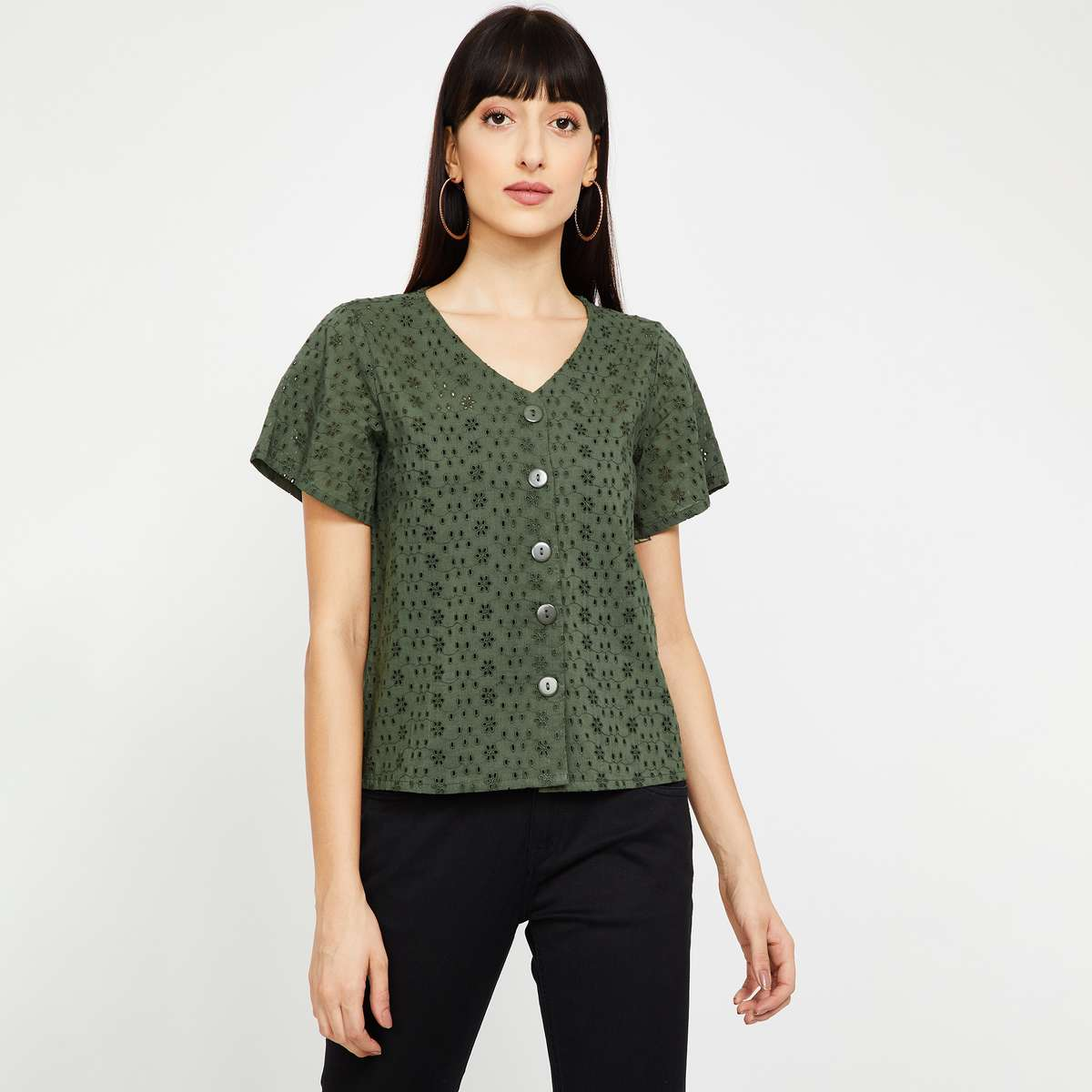 2.BOSSINI Embroidered Short Sleeves Shirt