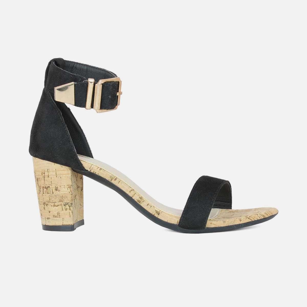 2.INC.5 Women Solid Open-Toe Block Heels