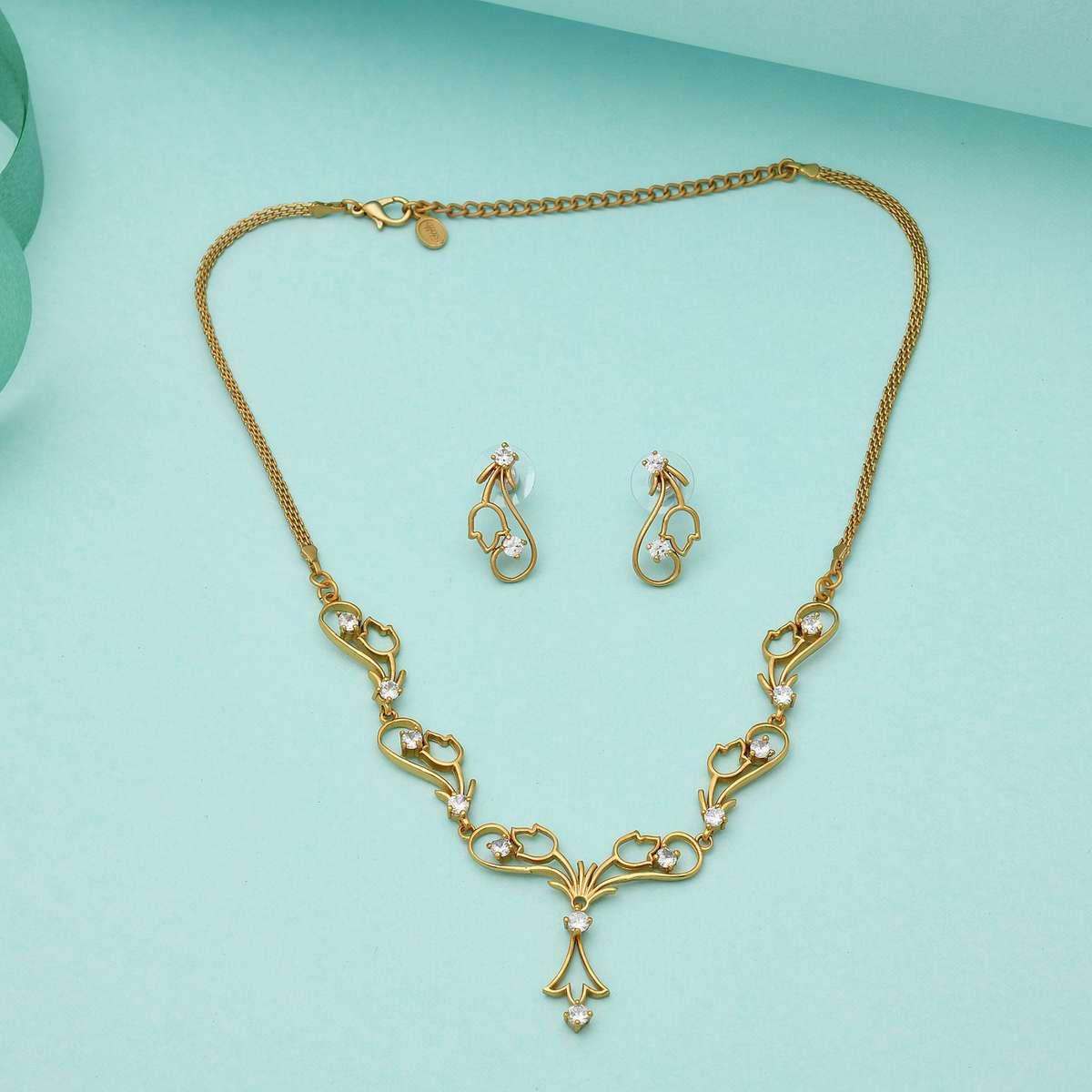 2.ESTELE Embellished Necklace and Earrings Set