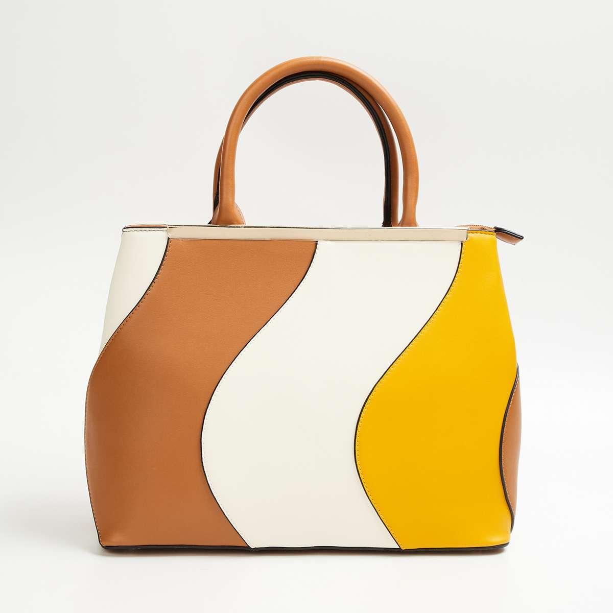 1.CODE Women Colourblocked Handheld Bag