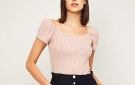 1.GINGER Women Knitted Boat Neck Top