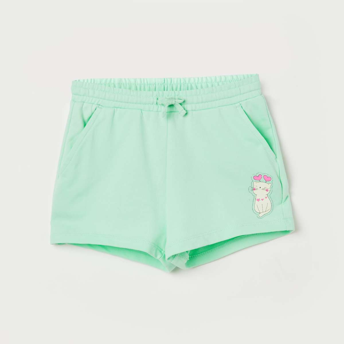 1.FAME FOREVER KIDS Girls Printed Elasticated Shorts