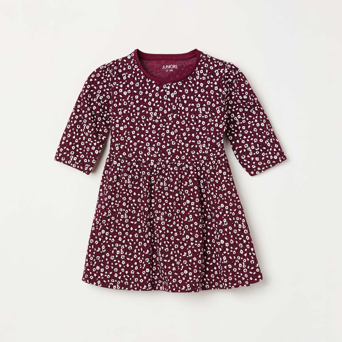 2.JUNIORS Girls Printed Fit & Flare Dress