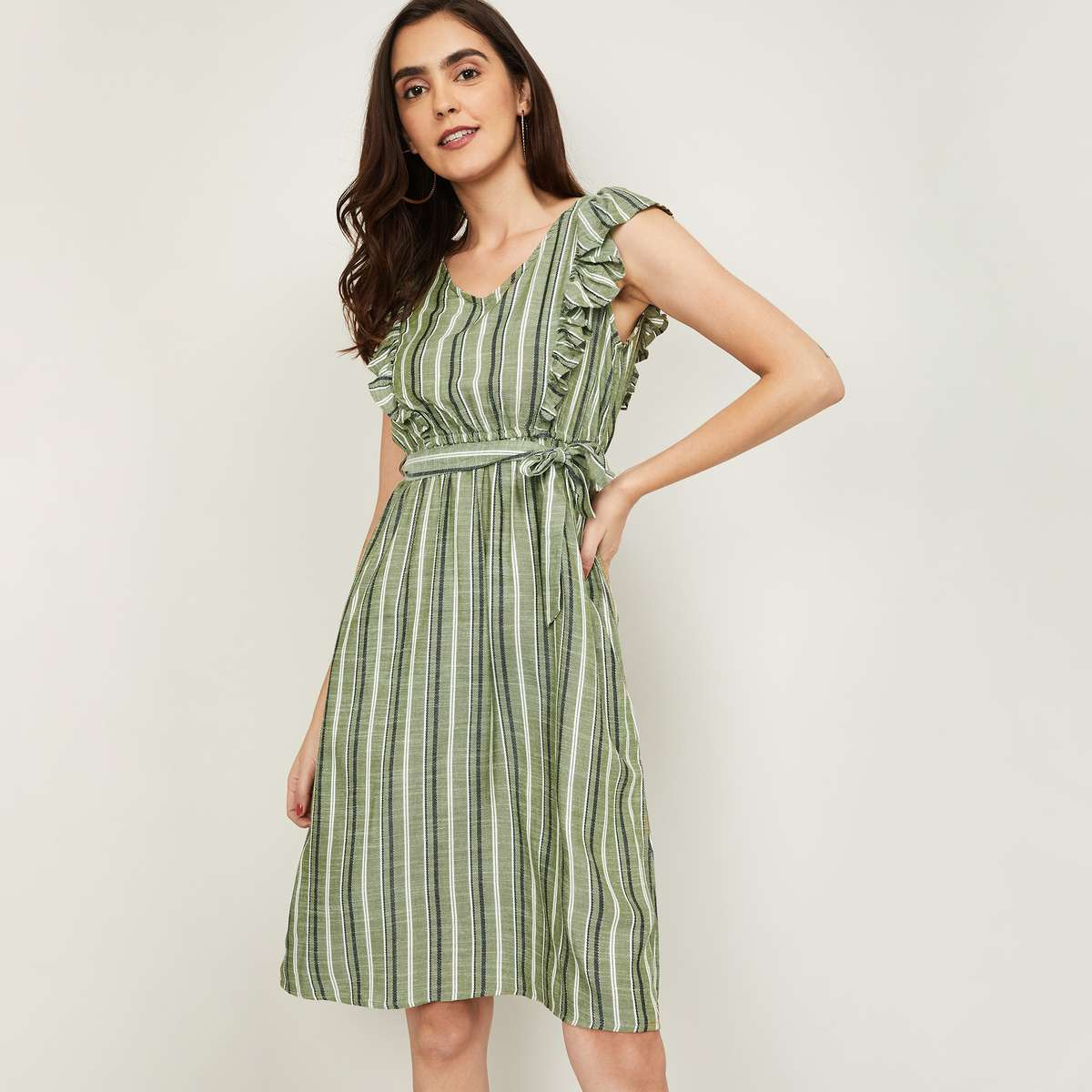 5.FAME FOREVER Women Striped A-line Dress