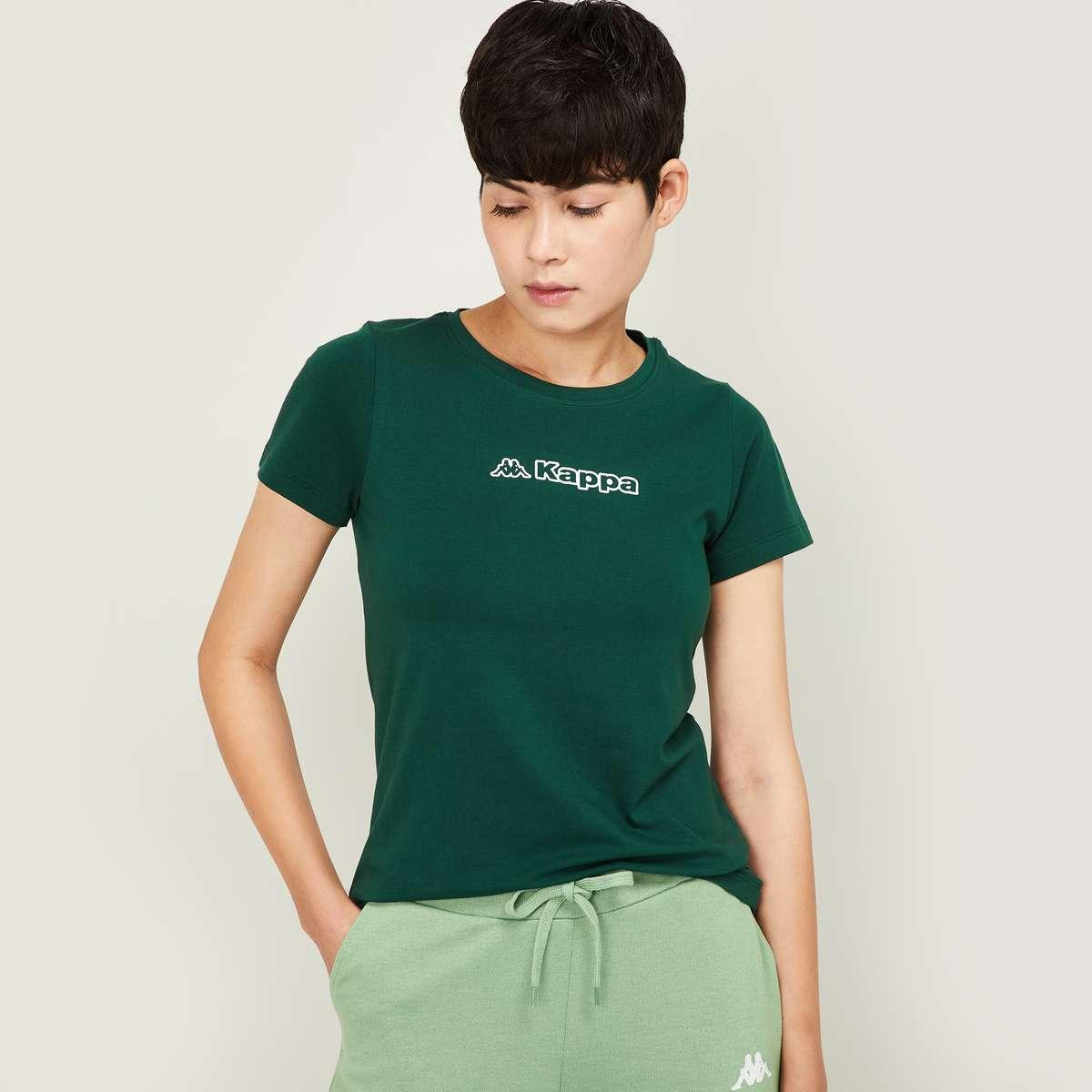 7.KAPPA Women Printed Round Neck T-shirt