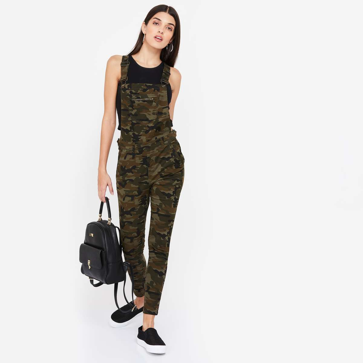 6.GINGER Camouflage Print Dungaree