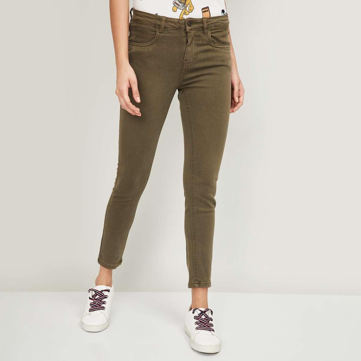 4.FAME FOREVER Women Solid Slim Fit Jeans