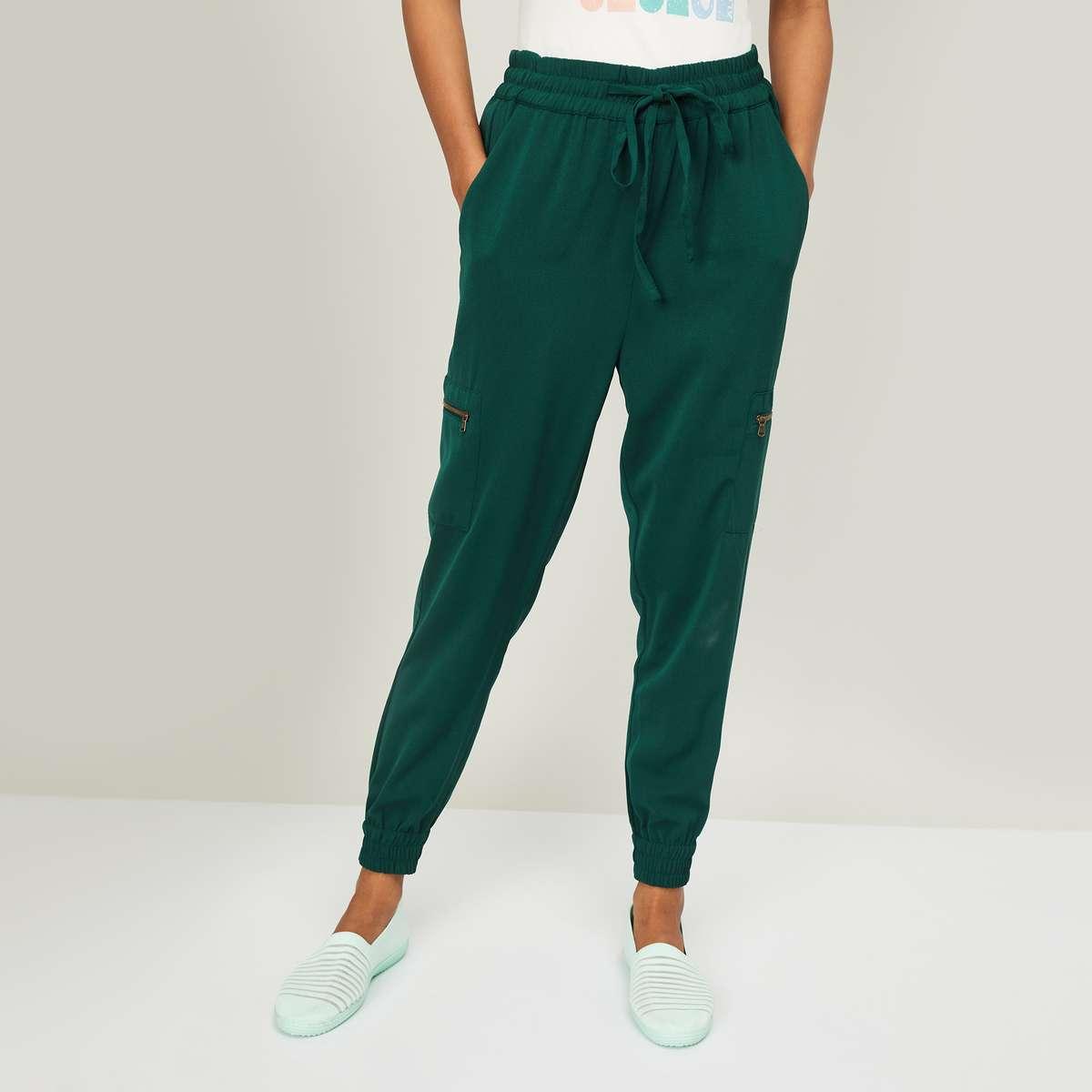 3.BOSSINI Women Solid Joggers Trousers