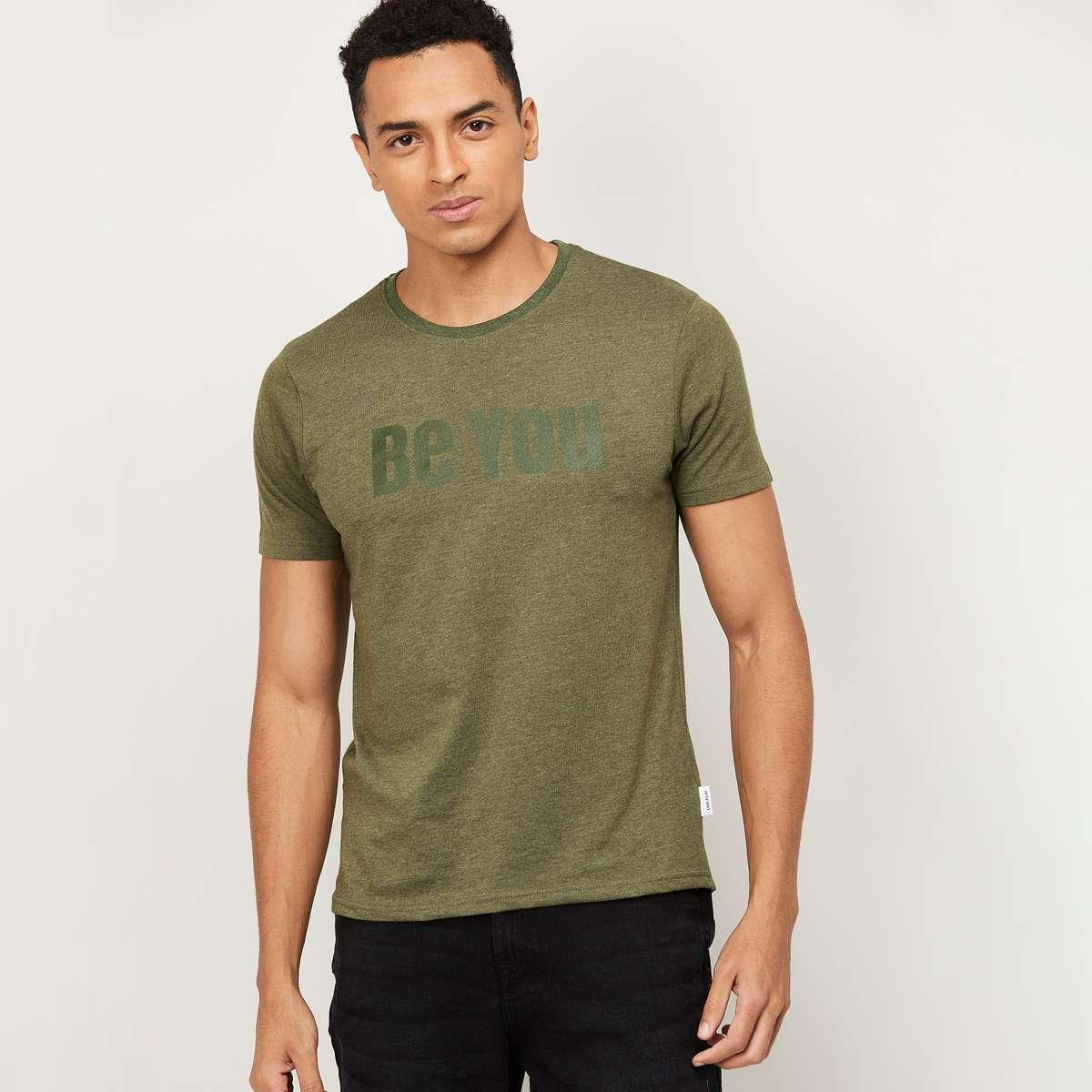 2.FAME FOREVER Men Printed Crew Neck T-Shirt