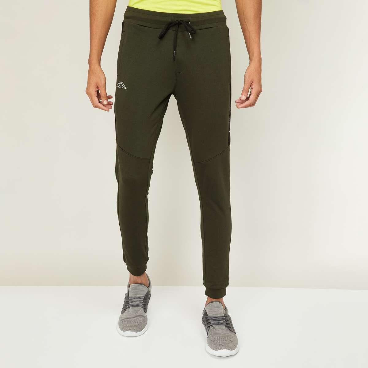 4.KAPPA Men Solid Slim Fit Elasticated Joggers