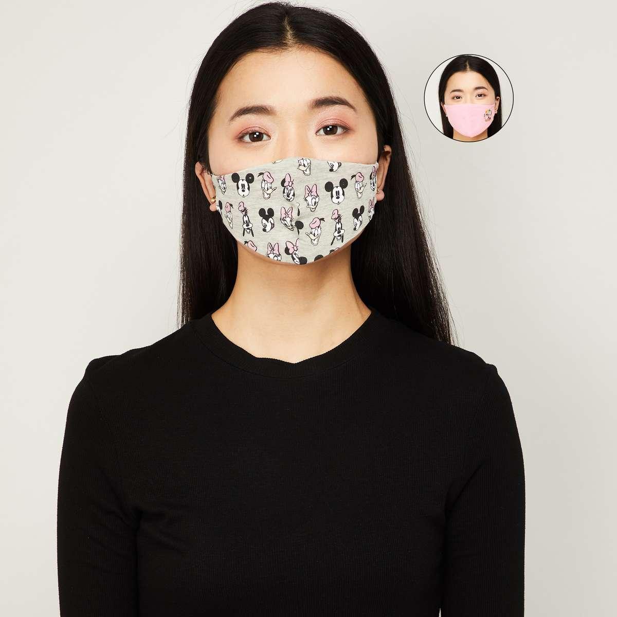 2.GINGER Women Printed Face Mask - Set of 2