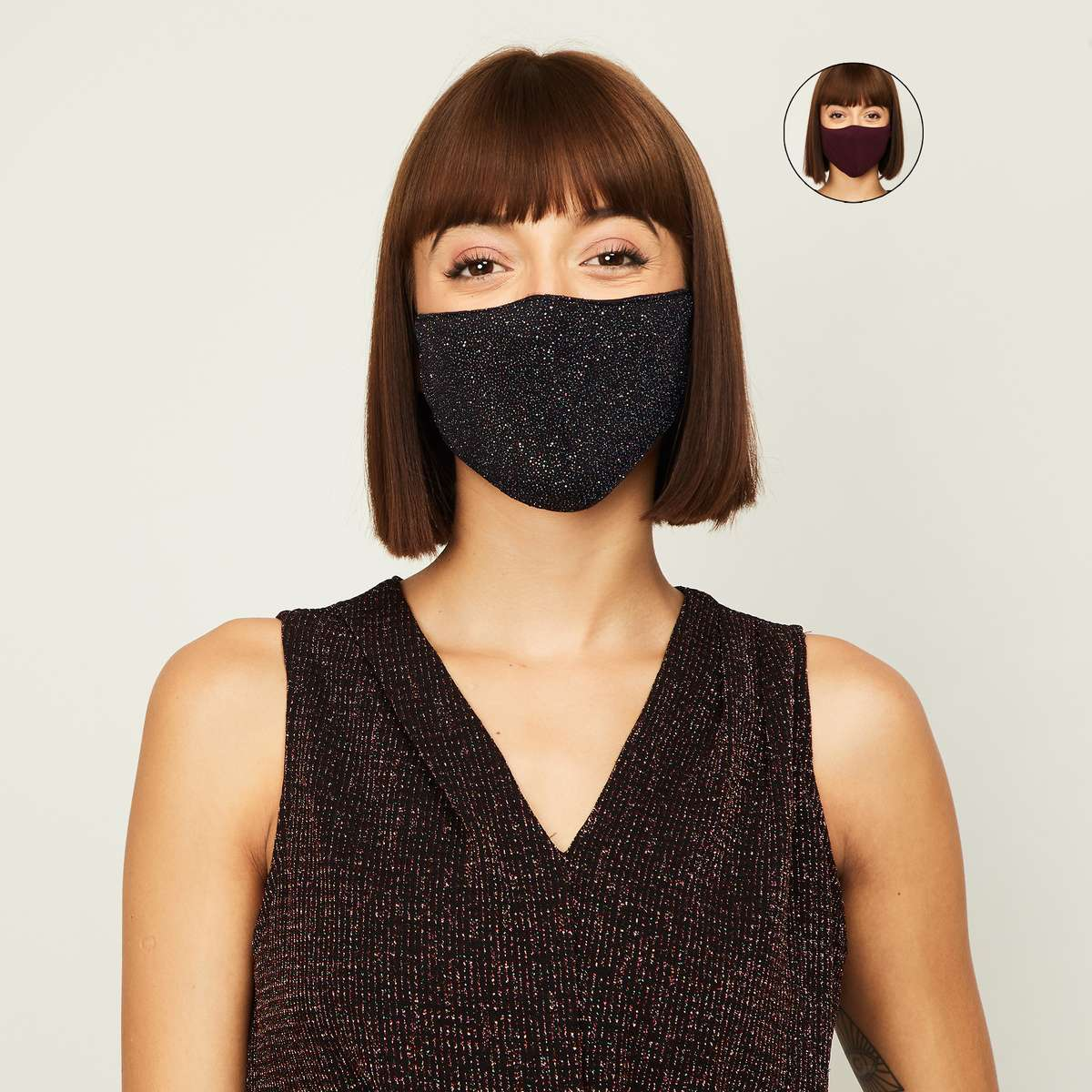 1.GINGER Women Printed Face Mask- Pack of 2