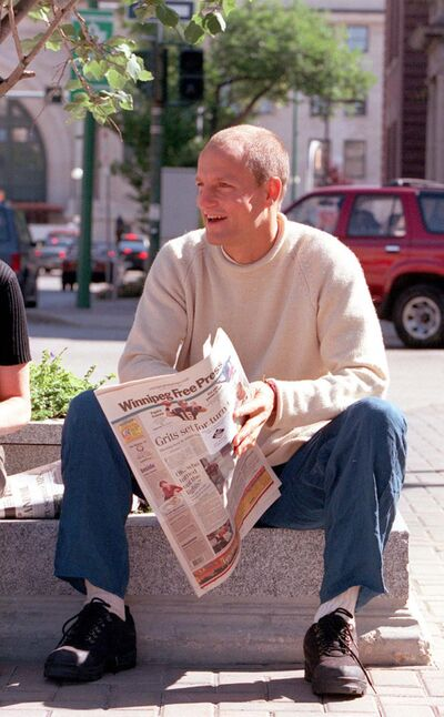 Marc Gallant / Winnipeg Free Press Files</p><p>Actor Woody Harrelson, seen visiting the city in 2000, may be back as the film Champions is set to film here in November.</p>
