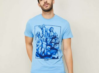 4.FREE AUTHORITY Men Printed Regular Fit Crew Neck T-shirt