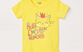 1.JUNIORS Girls Printed Round Neck T-shirt