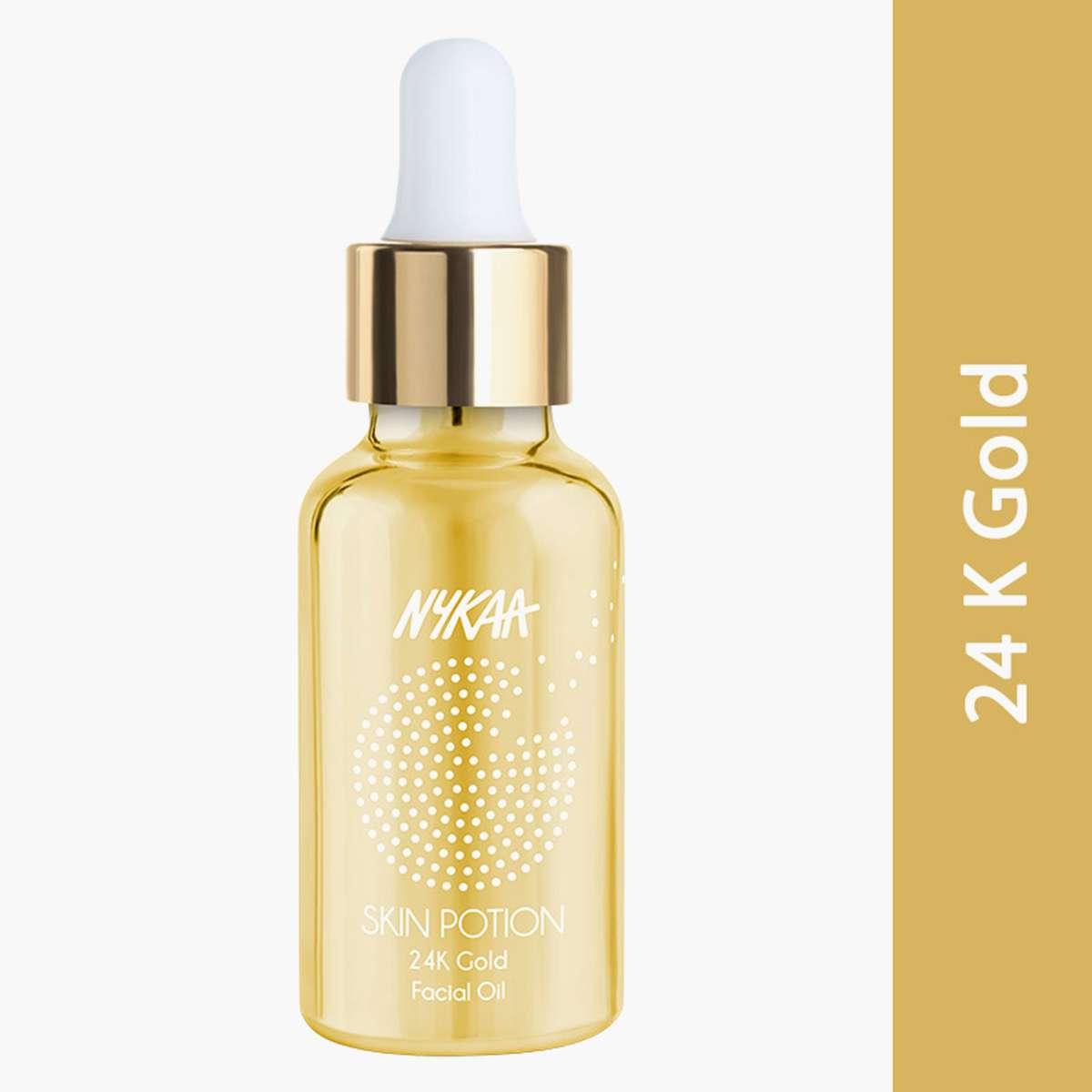 4.NYKAA Skin Potion 24K Gold Face Oil