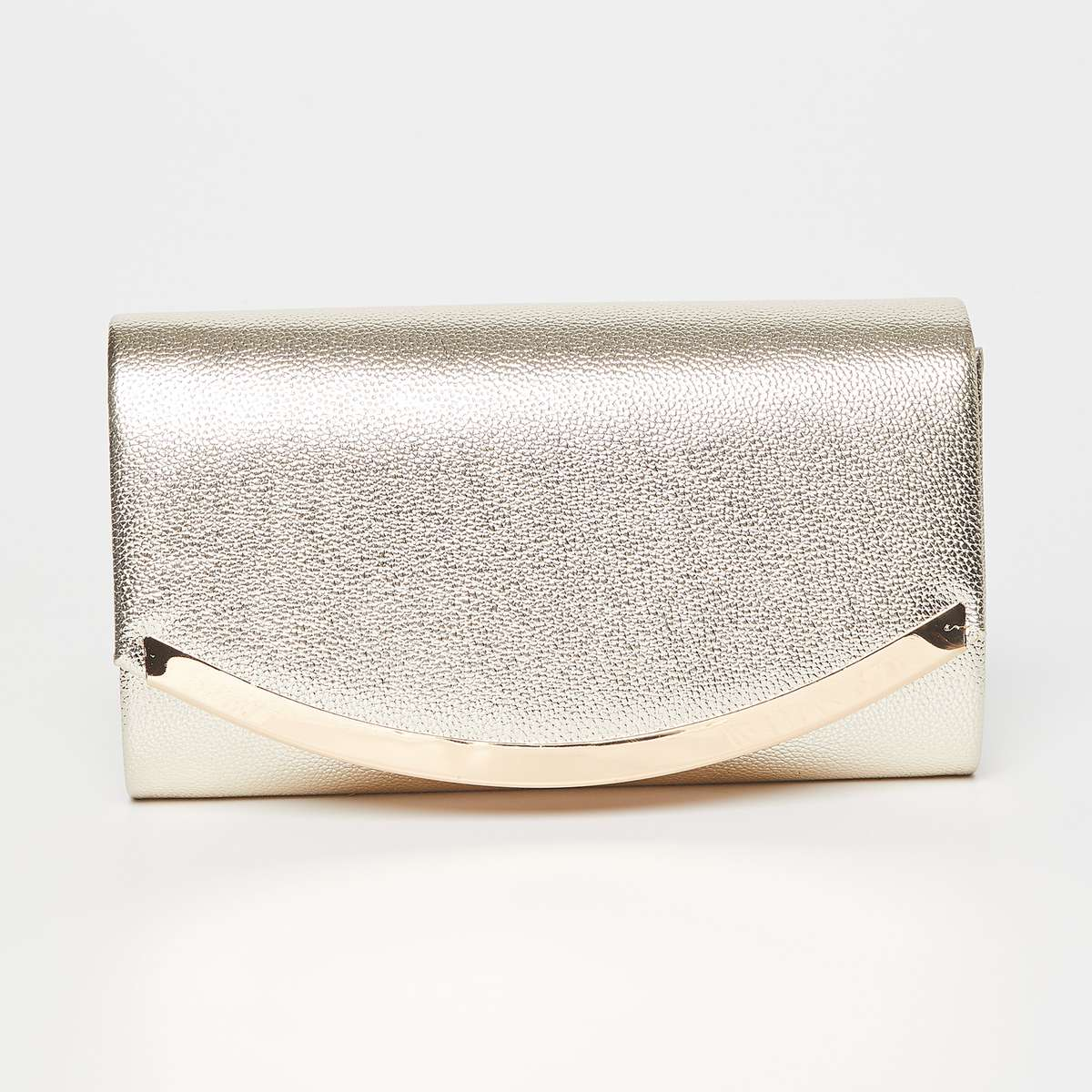 3.CODE Shimmery Evening Clutch with Metallic Chain