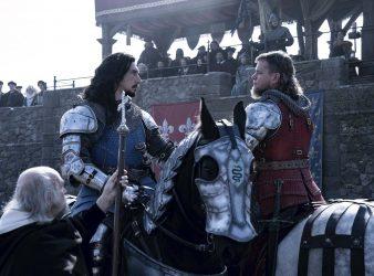 Shall we lance?: Jean de Carrouges (Matt Damon, right) and Jacques LeGris (Adam Driver) prepare to duel.</p></p>
